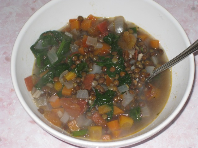 Puy Lentil And Spinach Soup (8)