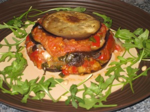 Aubergine Timbales (20)
