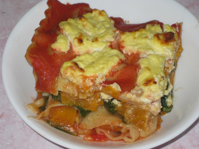 Pumpkin, Spinach And Goats Cheese Lasagna (18)