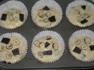 Choc Hazelnut Muffins (6)
