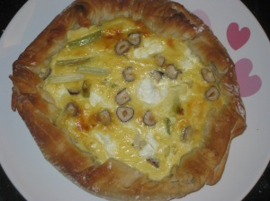 Goat's Cheese, Spring Onion and Hazelnut Tart (10)