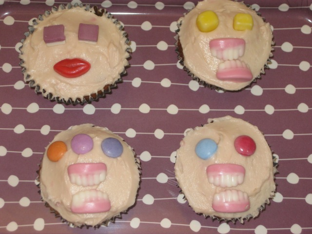 Liquorice And Blackcurrant Monster Cupcakes (12)