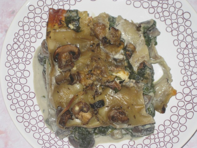 Quick Spinach And Mushroom Lasagne (14)