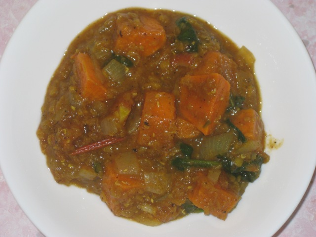 Sweet Potato, Spinach And Lentil Dahl (5)
