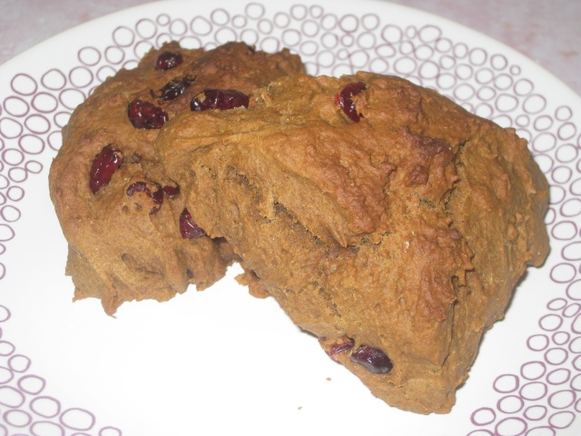 Vegan Pumpkin and Cranberry Scones (12)
