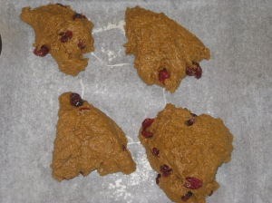 Vegan Pumpkin and Cranberry Scones (8)