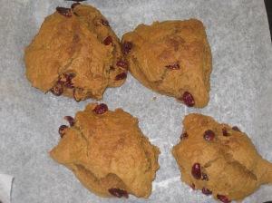 Vegan Pumpkin and Cranberry Scones (9)