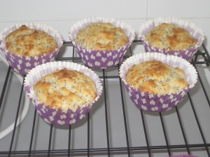 Lemon and Poppyseed Muffins (8)