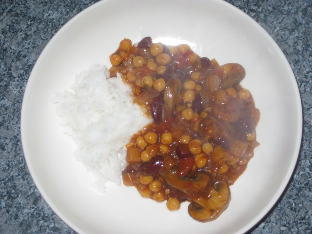 Bean and mushroom chilli (11)
