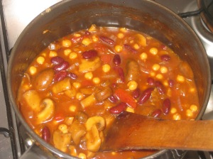 Bean and mushroom chilli (9)