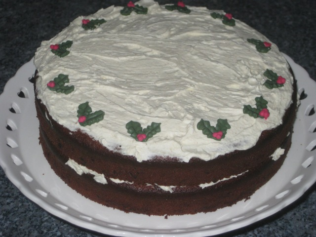 Ginger Cream Christmas Cake (23)