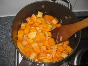 Curried Butternut Squash and Apple Soup (2)