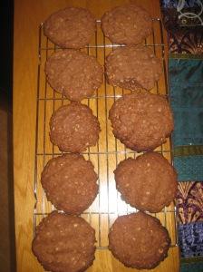 Choc Peanut Cookies (8)