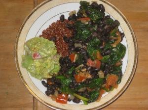 Spinach and Black Bean Burrito Bowl