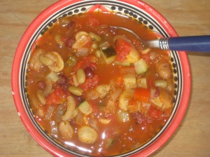 A Vegan Taste of France Provencal Mixed Bean Soup (5)