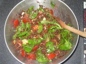 Salad Samurai - Green Curry Lentil Quinoa Salad