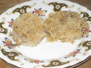 Vegan Secret Supper Leek and Oyster Mushroom Risotto Cakes (2)