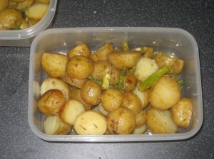 Vegan Secret Supper Mustard Roasted Nugget Potatoes