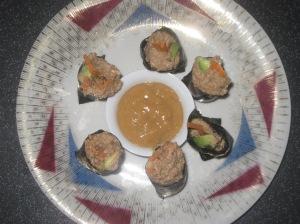 Vegan Secret Supper Porcini Pecan Nori Rolls 007