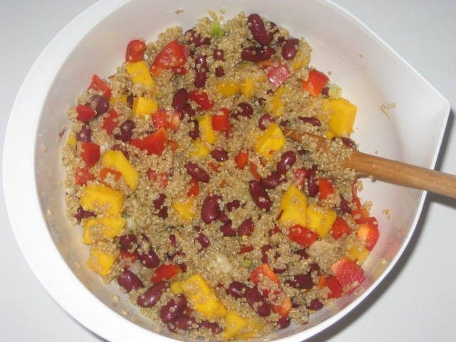 Veganomicon Quinoa salad with Black Beans and Mango