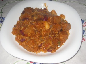Veganomicon Seitanic Red and White Bean Jambalaya (2)