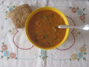 Veganomicon Spicy Peanut and Aubergine Soup (1)