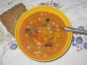 VEW Ginger peanut squash soup