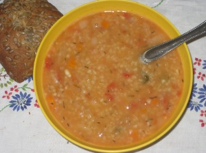 VEW White Bean Farro Soup