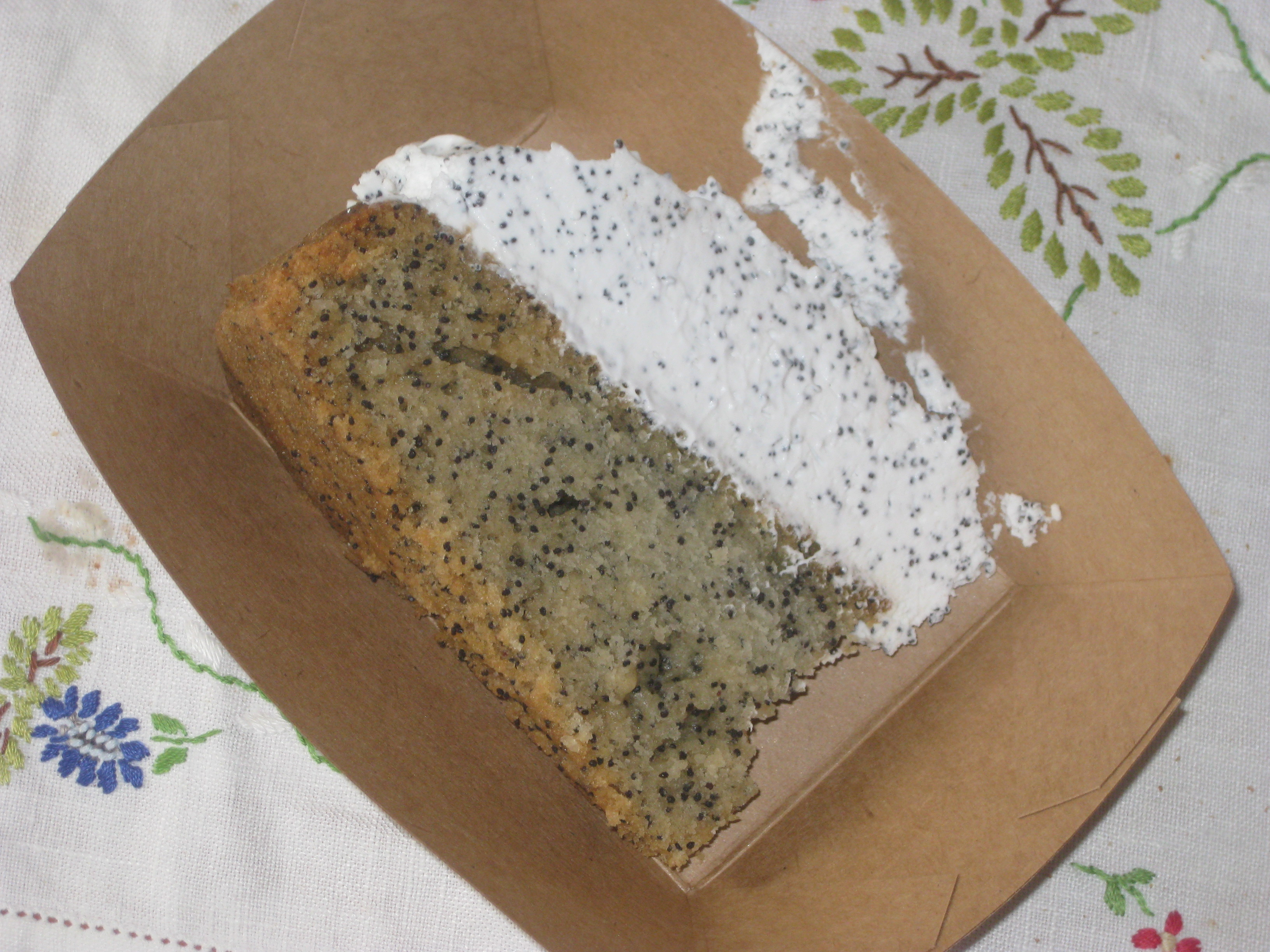 Poppy seed: again, that is my kind of ratio.