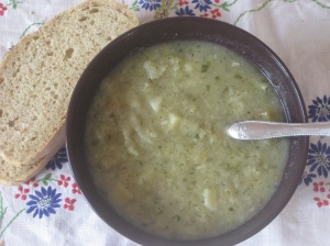 Thug Kitchen Leek and Potato Soup
