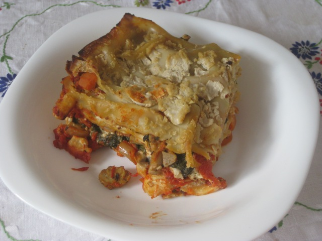 Thug Kitchen Mixed Mushroom and Spinach Lasagne (4)