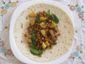 Thug Kitchen Spiced Chickpea Wraps with Tahini Dressing